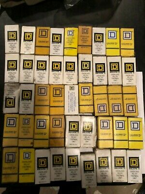Huge lot of 45  Square D Overload Relay Heater Thermal Units, NOS