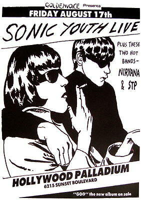 Sonic Youth / Nirvana Poster Hollywood