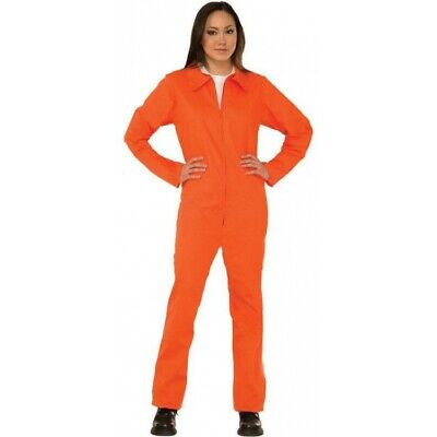 6f9c2ff9 WOMEN PRISONER COSTUME Orange Khaki Halloween Cosplay Prison Convict ...
