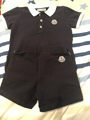Genuine Moncler Shorts And T-shirt Set. Used With Original Tags 18-24m.