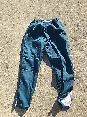 9413a66aa Vintage 90s Nike Track Pants Joggers Medium Navy Ankle Zip Windbreakers  Nylon