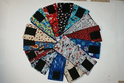 Lot of 5 Dog Belly Bands, Male Dog Diaper, Clothes, Training, Housebreaking,