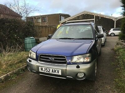 Subaru Forrester X all weather A 1 owner from new lovely car selling as spares