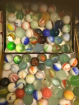 Large Lot Of Old Antique Vintage Marbles Some Very Unusual