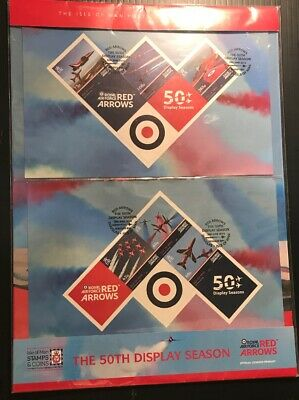 ISLE OF MAN 2014 50th DISPLAY SEASON OF  RED ARROWS COLLECTABLE
