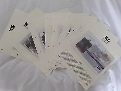 100 years of FLIGHT FIRST DAY COVER  job lot x 9 covers and info sheet