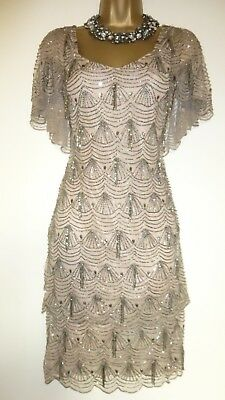 """*  Phase Eight Collection 8 """"Colby"""" Embellished Flapper Dress Size 14*"""