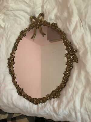 Gilt Frame Wall Mirror Approx 12 X 14 Inch  Frame Is Metal