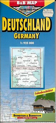 Map Of Deutschland Germany.Map Of Germany Deutschland Laminated Folded By Berndston Maps