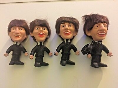 1964 Remco Beatles Set 4 Figures John Lennon Paul McCartney George Ringo Starr