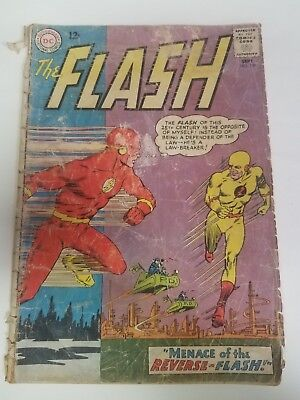 The Flash #139 1963 DC 1st Apperance Reverse Flash Professor Zoom Good 2.0
