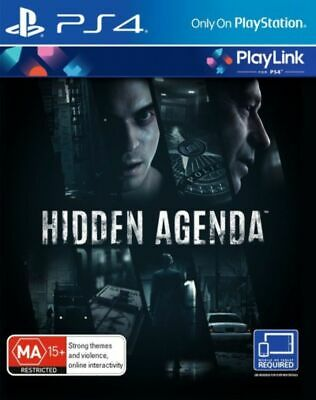 NEW Hidden Agenda Playstation 4 PS4 Playlink BRAND NEW SEALED