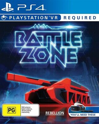 NEW Battlezone PlayStation 4 VR, PS4, PSVR Game Brand Sealed Battle Zone