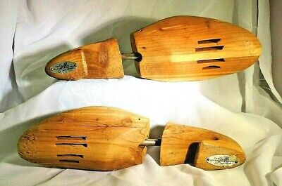 Vintage L Wooden Shoe Keepers Stretchers Johnston & Murphy Rochester Shoe Tree
