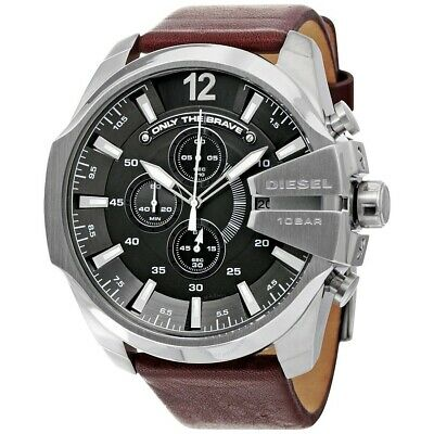 Diesel Men's DZ 4290 Mega Chief Quartz , Leather Chronograph Watch