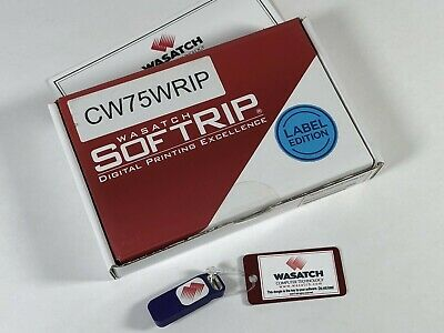 NEW WASATCH SoftRIP LABEL EDITION SOFTWARE SECURITY KEY DONGLE EPSON COLORWORKS