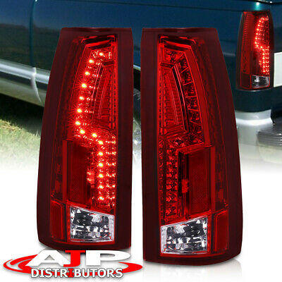 94-98 Chevy Suburban Tahoe C10 New Style Red Led Brake Stop Tail Lights Assembly