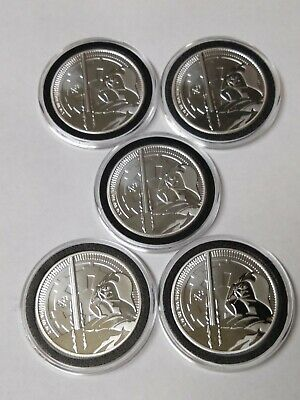 Lot of 5 - 2018 $2 Niue Silver Darth Vader Star Wars .999 1 oz. In Capsules.