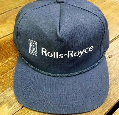 Vintage ROLLS ROYCE Hat Cap Leather Strapback Legend Brand Made in the USA  NICE 1b8aef08c527
