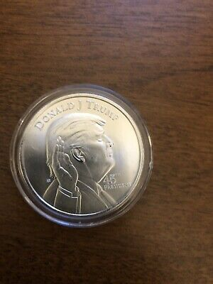 Donald Trump 1 OZ. President .999 Silver One Troy Ounce Coin Bullion