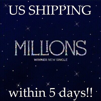 US SHIPPING Winner-[Millions] Single Random CD+Poster+PhotoBook+Card+Lyrics+Gift