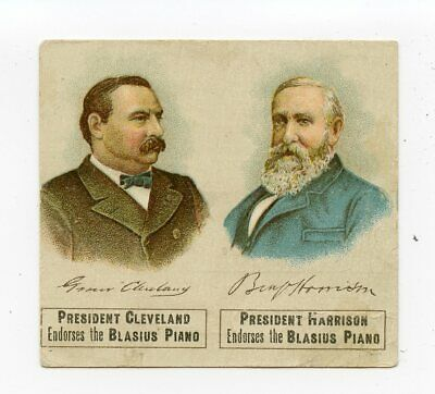 President Cleveland & Harrison 1892 Political Trade Card First Lady Testimonials