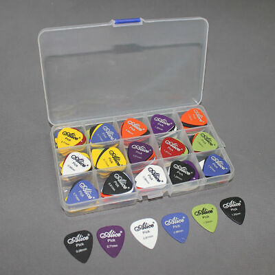 Acoustic Electric Guitar Gear Picks Plectrum Various thickness+Pick Box 24-100p