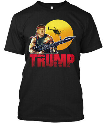 af013935 Like us on Facebook · Donald Trump President Rambo T-Shirt Pro Trump T-Shirt  Maga Tshirt New
