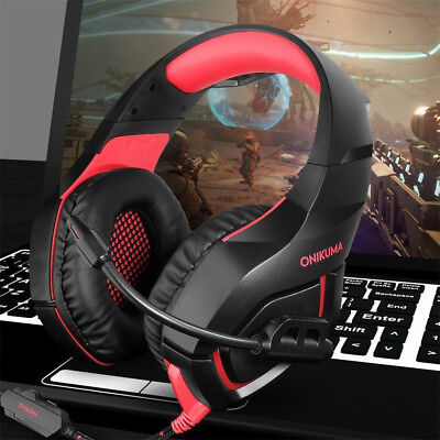 ONIKUMA K1 Stereo Bass Surround Gaming Headset w/ Mic For PS4 Xbox One PC2 A