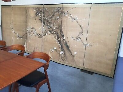 Antique Japanese Screen Genuine 170x450cm