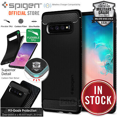 Galaxy S10/Plus S10e 5G Case SPIGEN Rugged Armor Slim Shockproof Cover Samsung