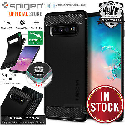 Samsung Galaxy S10/Plus/S10e Case Genuine SPIGEN Rugged Armor Shockproof Cover
