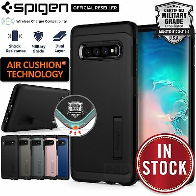 Galaxy S10 Plus S10e Case Genuine SPIGEN Tough Armor Shockproof Cover Samsung