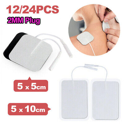 12/24PCS TENS Machine Replacement Electrode Pads Self Adhesive 5x10cm 5x5cm