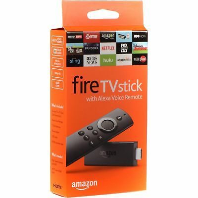 Amazon Fire TV Stick (2nd Generation) with Alexa Voice Remote Media Streamer New