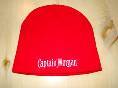 6fe63d11a68 Captain Morgan Rum Skull Cap Beanie red knit warm winter Ski SnowBoard Hat  -NWOT