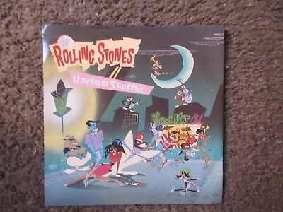 """Rolling Stones """"harlem Shuffle""""+""""had It With You"""" 1986 U.s. W/ps Nm/vg++ Oop 7"""""""