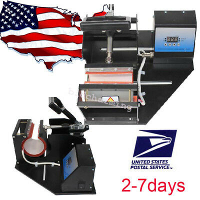 in USA double station Heat Press Transfer Sublimation Machine for Cup Coffee Mug