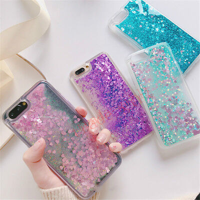 Bling Glitter Quicksand Dynamic Liquid Sparkle Soft Silicone Phone Case Cover
