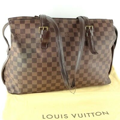 LOUIS VUITTON BROWN Damier Ebene Coated Canvas Sabana Computer Case ... be9d8c01308db