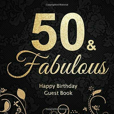50 & Fabulous. Happy Birthday Guest Book. Designs, BBD Gift