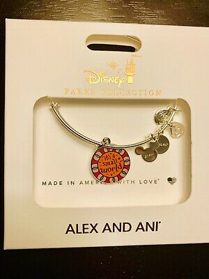 Disney Parks Alex And Ani It's A Small World Silver Bracelet Two Sided Bangle