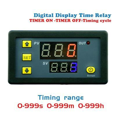 Timing Delay Relay Module AC110-220V 20A Cycle Timer LED Digital Display#