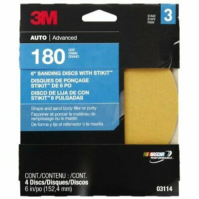 3M Production 03114 Fine Adhesive Backed Sanding Disc Automotive Accessories- 6""