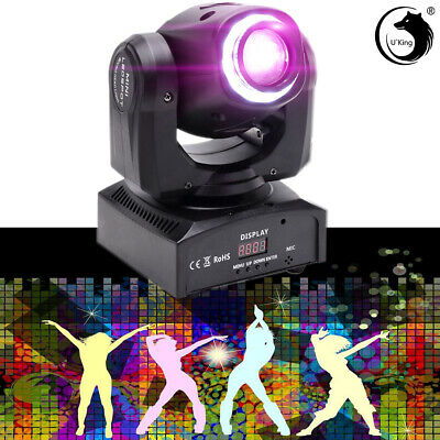 U`King 70W LED RGBW DJ Moving Head Light Party8Pattern Gobo Stage Lighting Disco