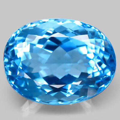 49.03ct.Top Sky Blue Topaz 100%Natural (Brazil) Oval Facet 23x18mm.AAA BIG Nr!.