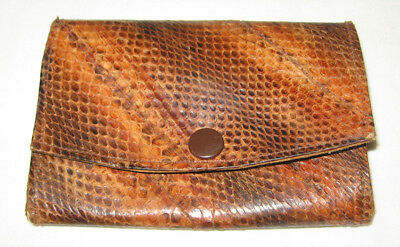 Vintage Real Snakeskin Double Purse Snake Skin Suede Lined