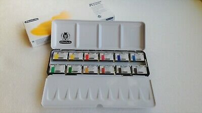 Schmincke Akademie Aquarell Watercolor 1/1 12 Full Large Pan in Metal Box 75312