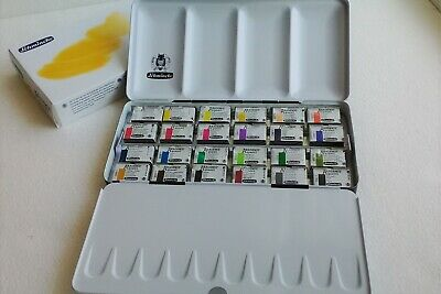 Schmincke Akademie Aquarell Watercolor 1/1 24 Full Large Pan in Metal Box 75425