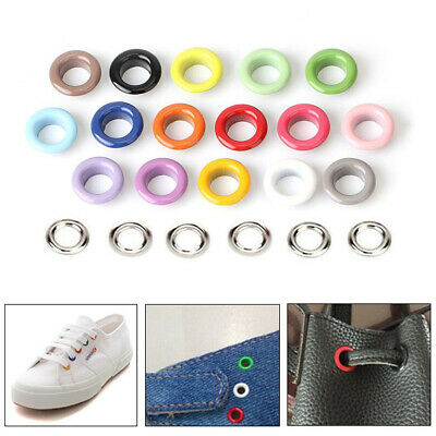 3-10mm Colored Eyelets With Washers Rivet Grommet Card Scrapbooking Hole Leather